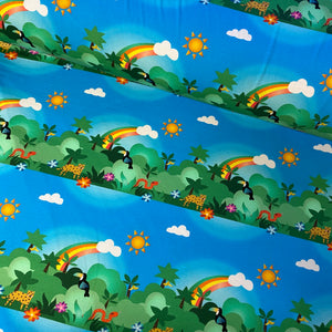 Happy Rainforest Cotton Jersey-Bumblebunches Exclusive