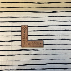 Busy Bees Stripe Cotton Jersey