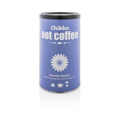 Chikko not coffee: roasted chicory. Instant caffeine free coffee alternative.