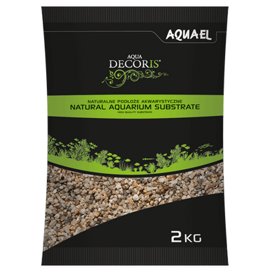 Aquael Aqua Decoris Natural-Colour Gravel 3.0 - 5.0Mm 2.0Kg - RBM Aquatics