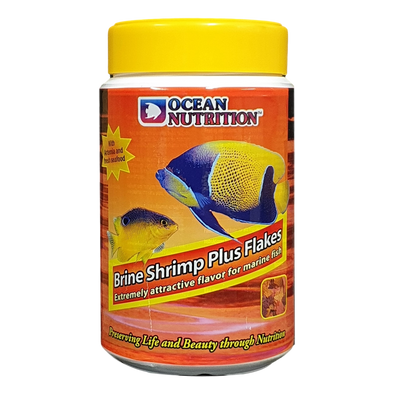 Ocean Nutrition Brine Shrimp Plus Flakes 154G - RBM Aquatics