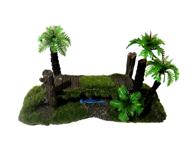 Resin Ornament Bridge W/Moss - RBM Aquatics