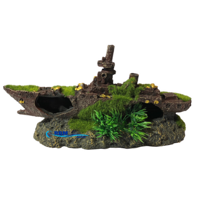 Boat With Moss 24Cm - RBM Aquatics