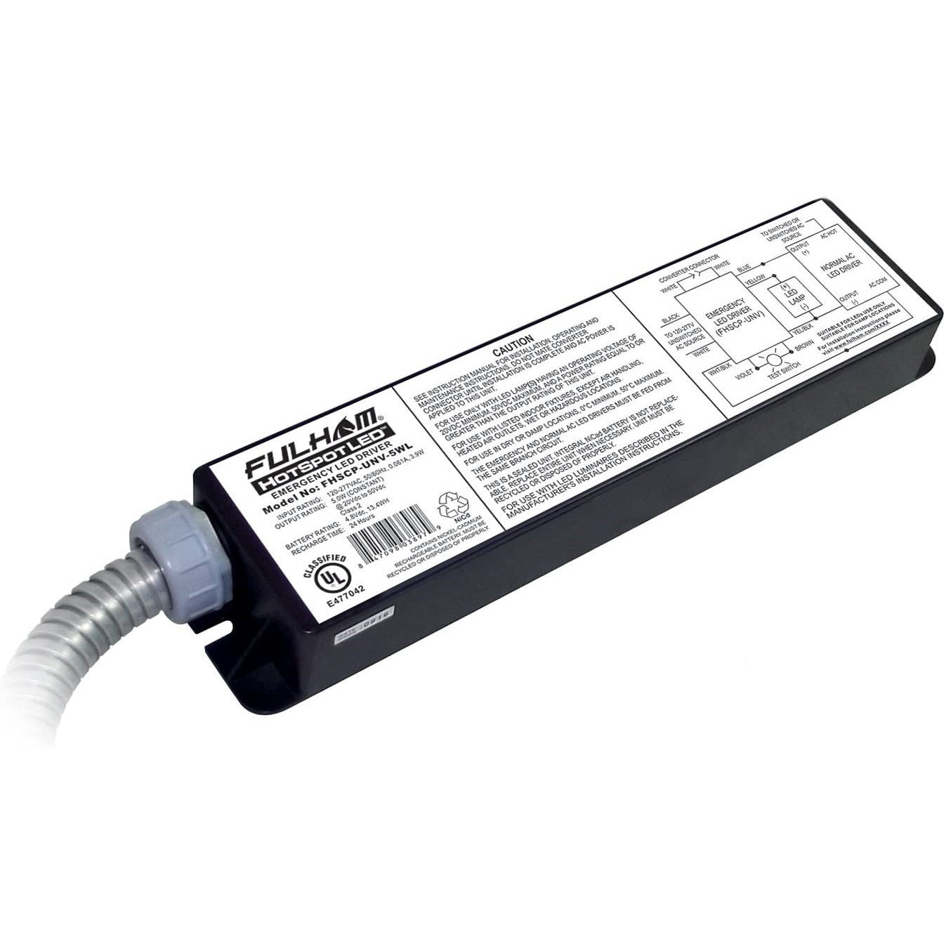 LED EMERGENCY DRIVER / 5W MAX - CommerciaLight Distributors