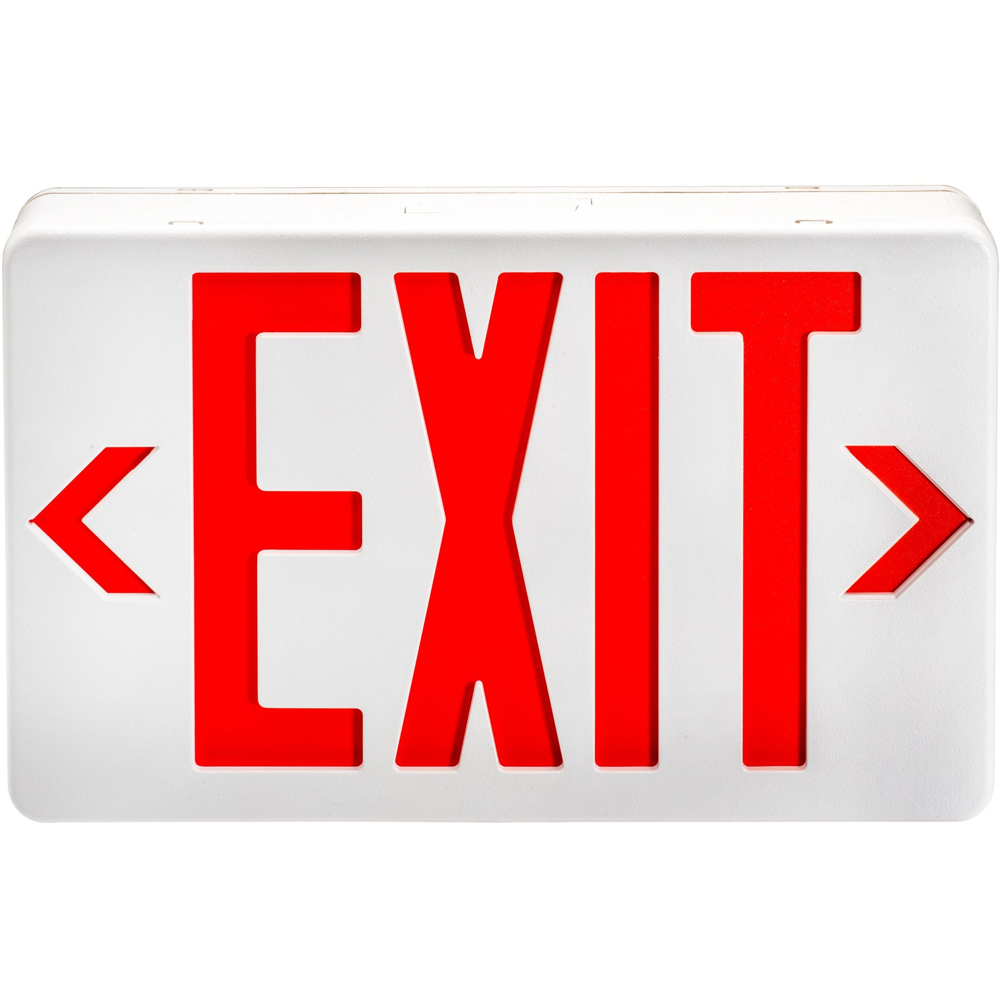 WH LED EXIT SIGN W/BATTERY BACK UP RED - CommerciaLight Distributors
