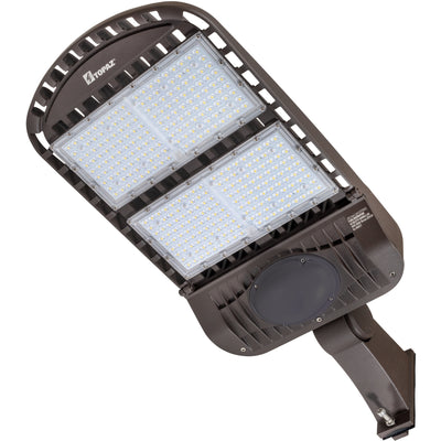 300W LED OUTDOOR SLIPFITTER AREA LIGHT BRONZE -TYPE 3 'DLC' IP65 - CommerciaLight Distributors