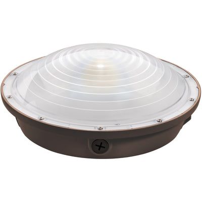 40W LED ROUND CANOPY LIGHT-BRONZE 'DLC' IP65 - CommerciaLight Distributors