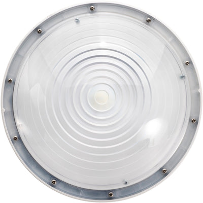 40W LED ROUND CANOPY LIGHT-WHITE  'DLC' IP65 - CommerciaLight Distributors