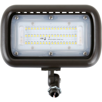 30W LED OUTDOOR SMALL FLOOD LIGHT BRONZE KNUCKLE-MOUNT 'DLC' IP65 - CommerciaLight Distributors