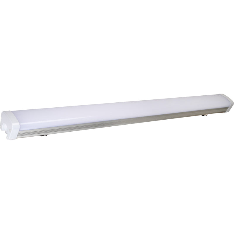 50W LED VAPOR PROOF 4' LIGHT FIXTURE -EMERGENCY BACKUP 5000K 'DLC' IP65 - CommerciaLight Distributors