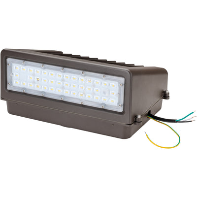60W LED DIMMABLE FULL CUT-OFF WALLPACK -BRONZE 'DLC' DARK SKY - CommerciaLight Distributors