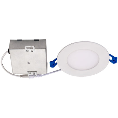 "9W 4"" ROUND LED SLIM DOWNLIGHT 40K 'ES' - CommerciaLight Distributors"