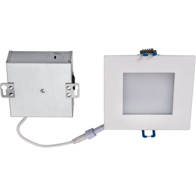 "9W 4"" SQUARE LED SLIM DOWNLIGHT 4000K 'ES' - CommerciaLight Distributors"