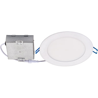 "14W 6"" ROUND LED SLIM DOWNLIGHT 3000K 'ES' - CommerciaLight Distributors"