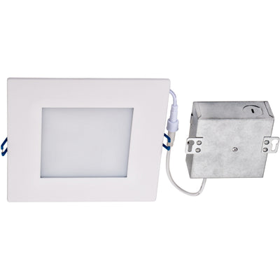 "12W 6"" SQUARE LED SLIM DOWNLIGHT 3000K 'ES' - CommerciaLight Distributors"