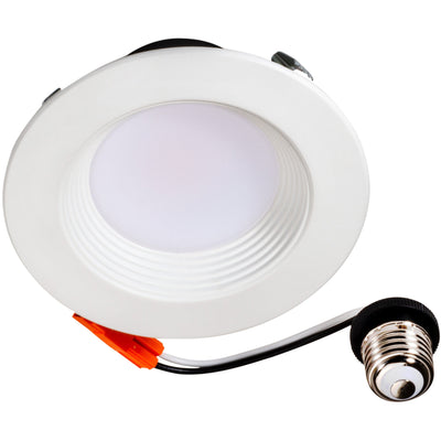 "10W 4"" LED ECO RETROFIT DOWNLIGHT BAFFLE TRIM 3000K 'ES' - CommerciaLight Distributors"