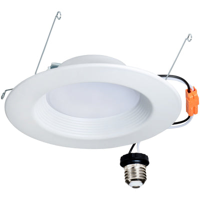 "12W 6"" LED ECO RETROFIT DOWNLIGHT BAFFLE TRIM 3000K 'ES' - CommerciaLight Distributors"