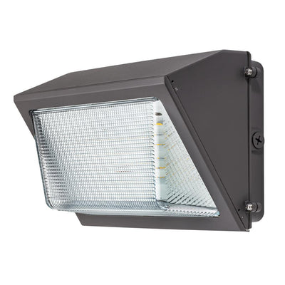 120W LED DIMMABLE HE WALLPACK -BRONZE 'DLC' IP65 - CommerciaLight Distributors