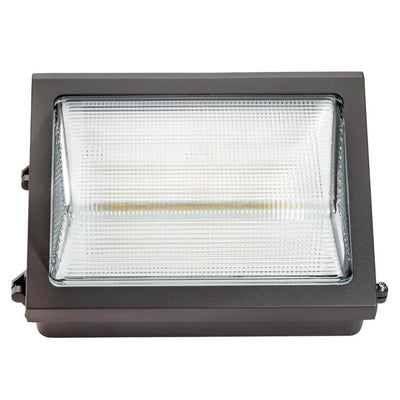 60W LED DIMMABLE HE WALLPACK W/EM -BRONZE 'DLC' - CommerciaLight Distributors