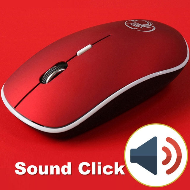 Wireless Mouse Silent Computer Mouse 2.4Ghz 1600 DPI Ergonomic Mause Noiseless USB PC Mice Mute Wireless Mice for Laptop