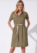 Load image into Gallery viewer, Fifi Khaki green dress
