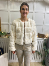 Load image into Gallery viewer, Winter White Faux Jacket