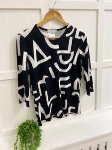 Monochrome Jersey Top