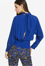Load image into Gallery viewer, Italian Blue Silk Top