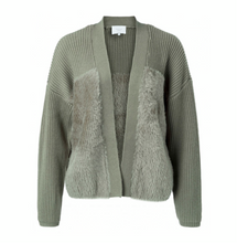 Load image into Gallery viewer, Fur/Knit Cardigan
