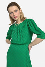 Load image into Gallery viewer, Olivia midi dress with oblique ruffle