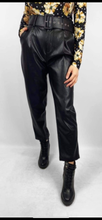 Load image into Gallery viewer, High waisted Leather Look Trouser