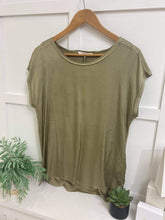 Load image into Gallery viewer, Sage green T-shirt
