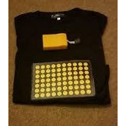 Yellow Smiley Grid Light Up Shirt - Flashwear LED Fidget Spinner - LED Smartphone Fans - Light Up Shirts