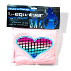 T-Qualizer - PINK Heart Light Up Shirt