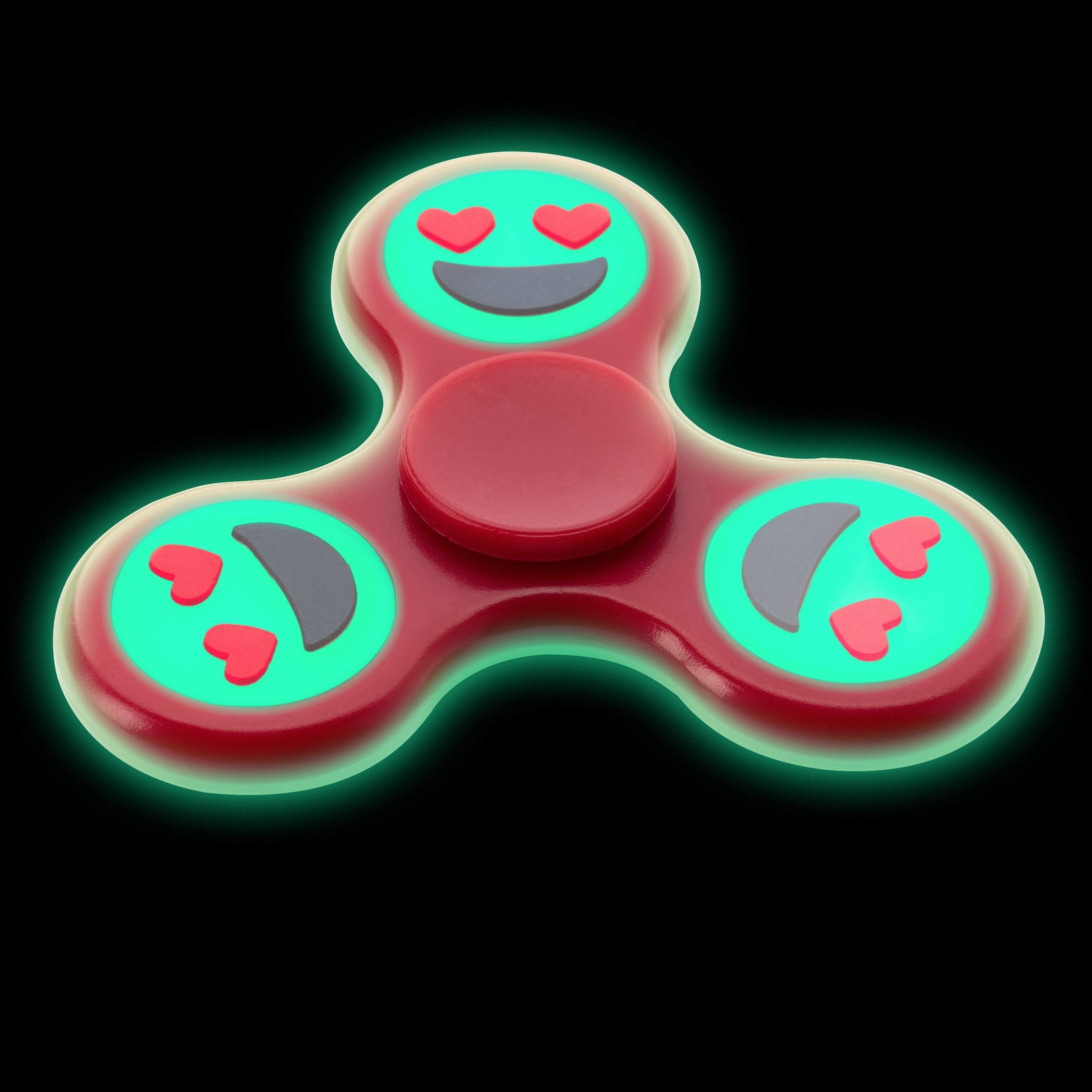 Glowing Emoji Fidget Spinner - Flashwear LED Fidget Spinner - LED Smartphone Fans - Light Up Shirts