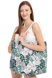 Tropical Leaves Tote