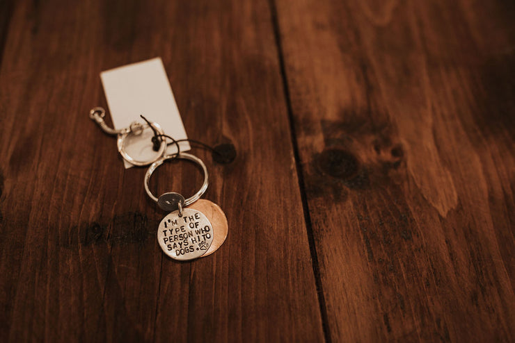 """Says Hi to Dogs"" Key chain"