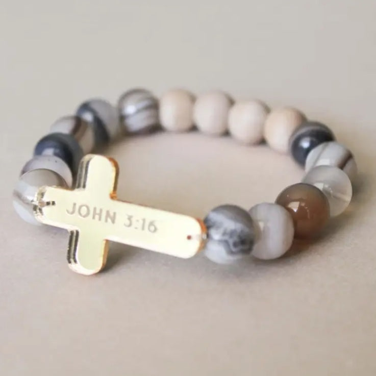 Cross Oil Diffuser Bracelet