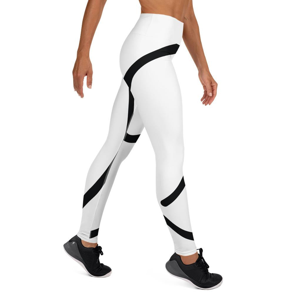 White Giant M Yoga Leggings - Actual Intervention