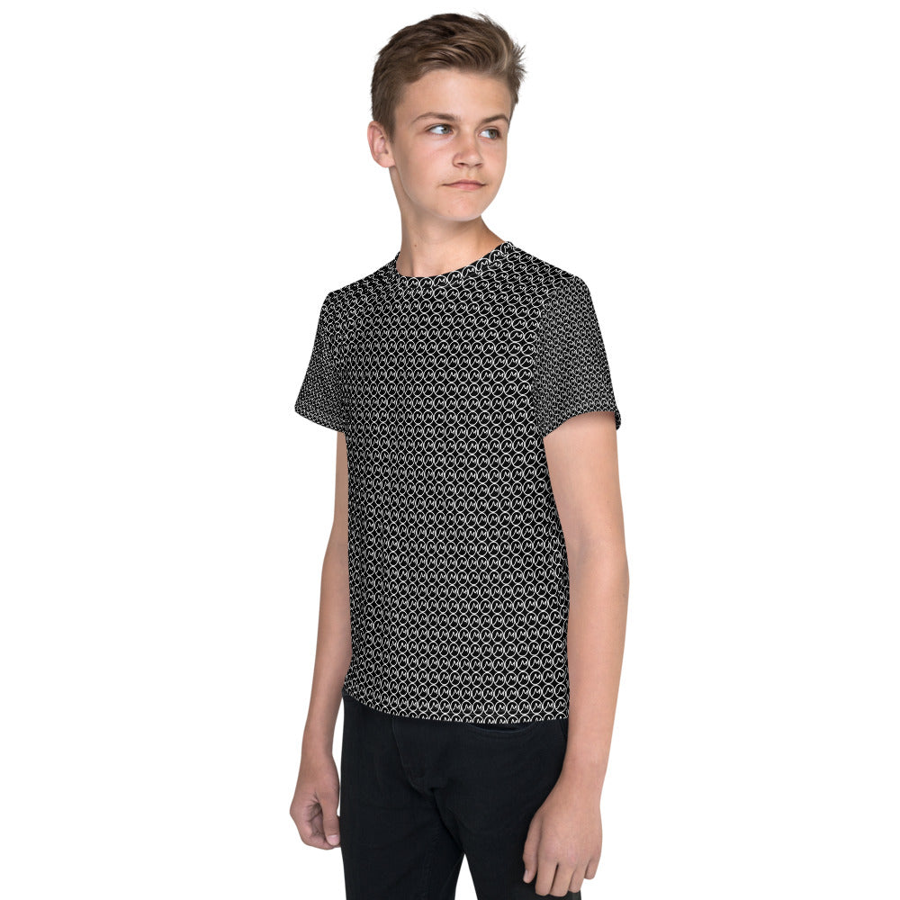 Youth T-Shirt Black M Print - Actual Intervention
