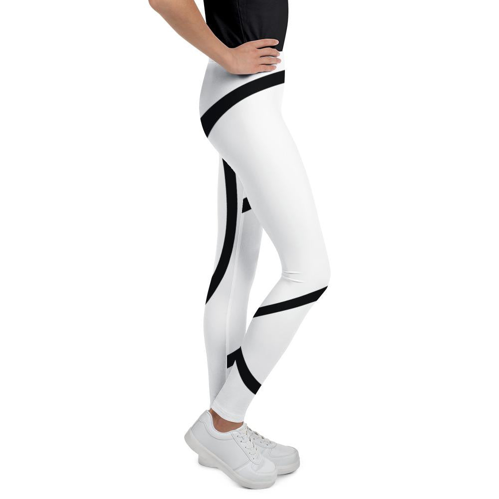 Girls white Giant M Leggings - Actual Intervention