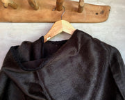 All Women Alpaca Wool Classic Cape Mujer Lana de Alpaca Ruana Clásica Poncho Brown Chocolate Marrón Café Chocolate AWANA Capa