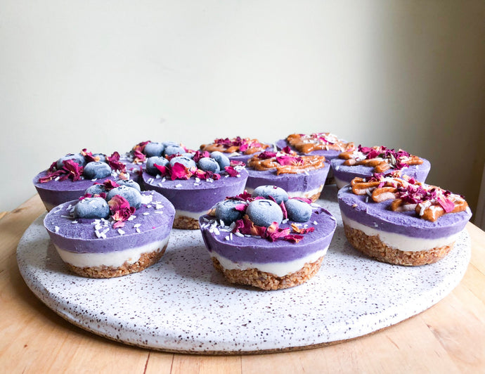 "Vibrant Raw Blueberry Mini ""Cheesecakes"""
