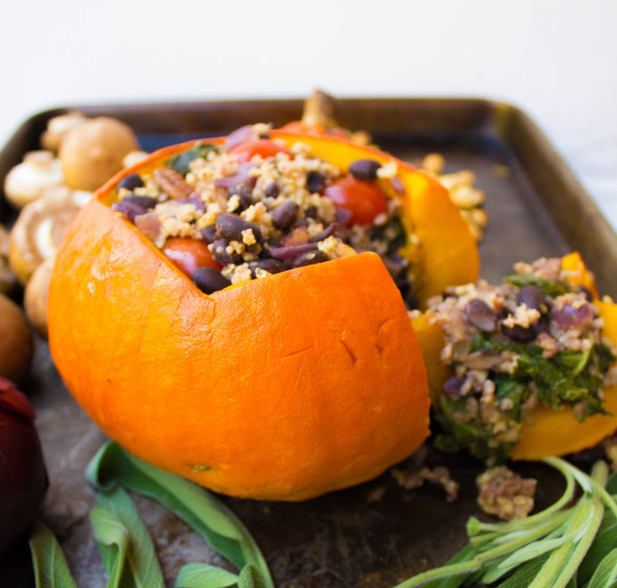 10-Ingredient Holiday Stuffed Pumpkin