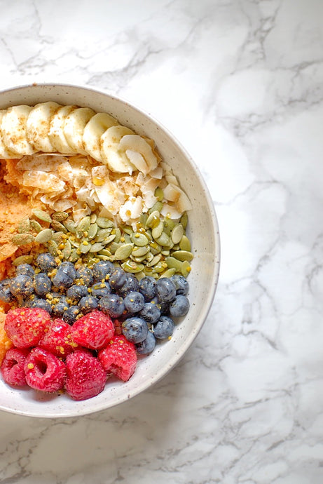 Rainbow Sweet Potato Breakfast Bowl