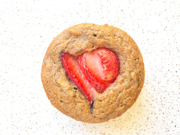 Easy Strawberry Banana Oat Muffins