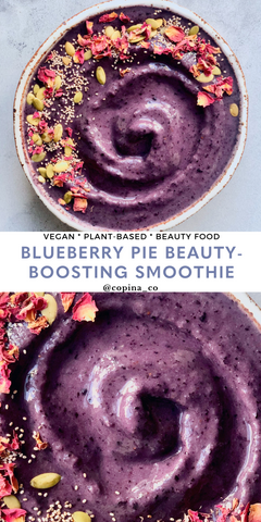 Blueberry Pie Beauty-Boosting Smoothie Bowl Copina Co.