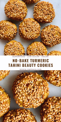 No-Bake Turmeric Tahini Cookies Copina Co.