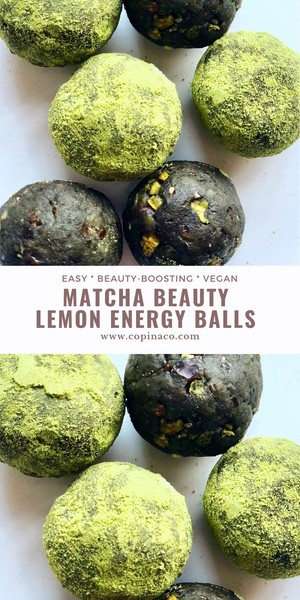 Matcha Beauty Lemon Energy Balls
