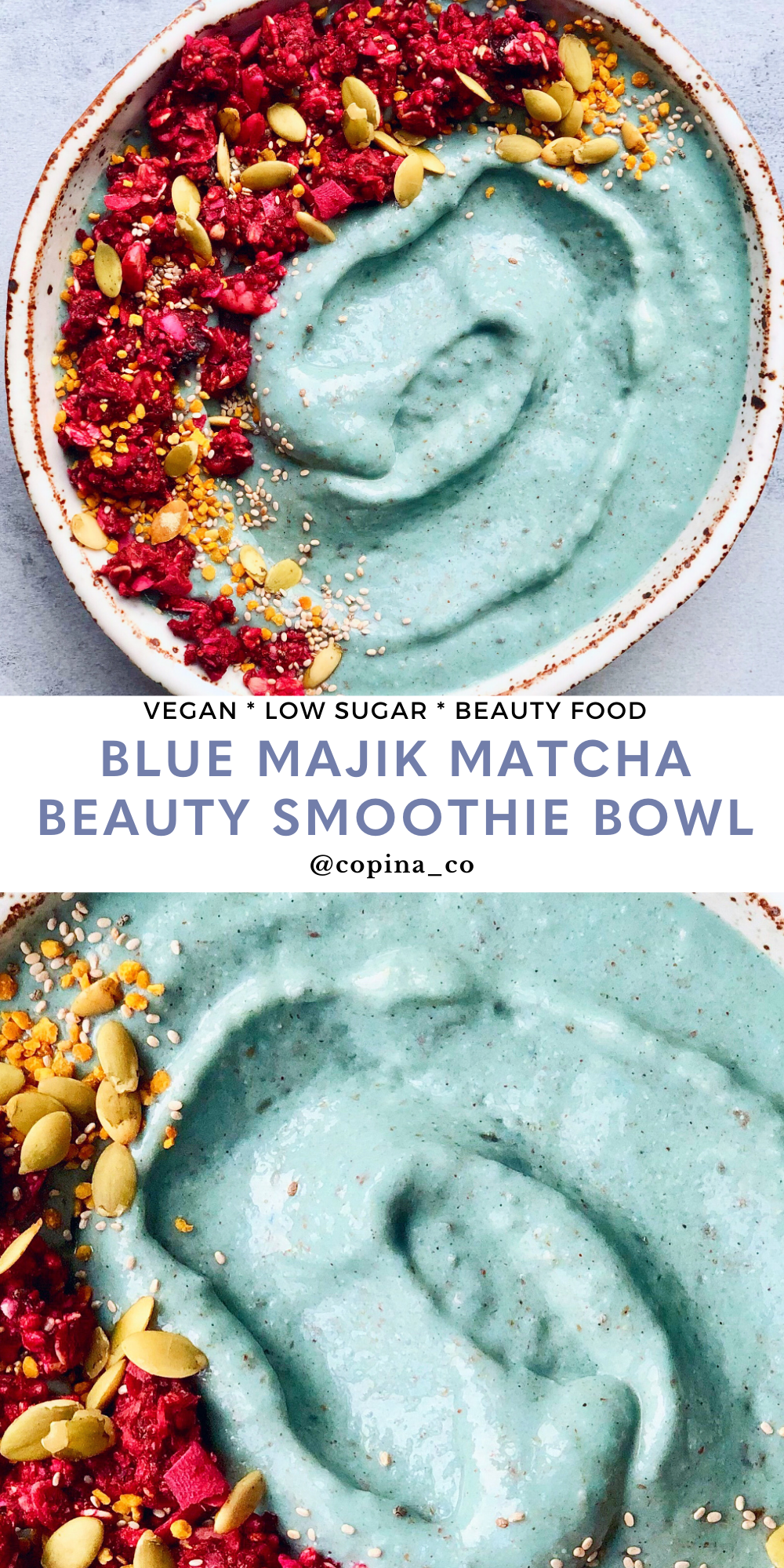 Copina Co Blue Majik Matcha Beauty Smoothie Bowl